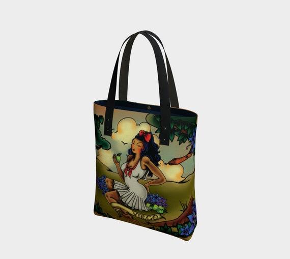 be981c173506 Virgo Tattoo Premium Tote Bag