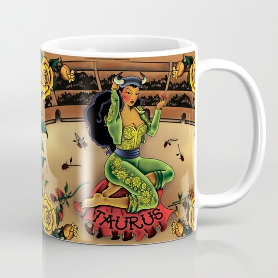 Zodiac Horoscope Tattoo Taurus Mug