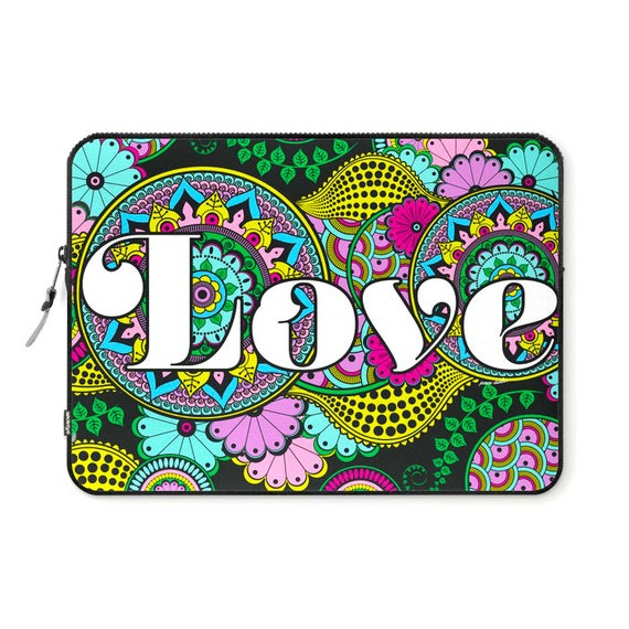Love Mandala Laptop Ipad Sleeve