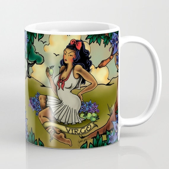 Zodiac Horoscope Tattoo Virgo Mug