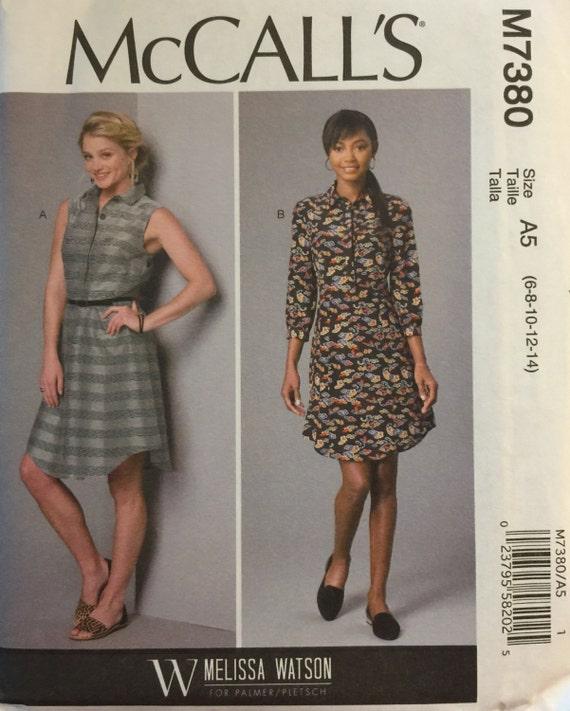 48813b6299b0 M7380 de McCall tamaño 6-8-10-12-14 patrones de vestidos de | Etsy
