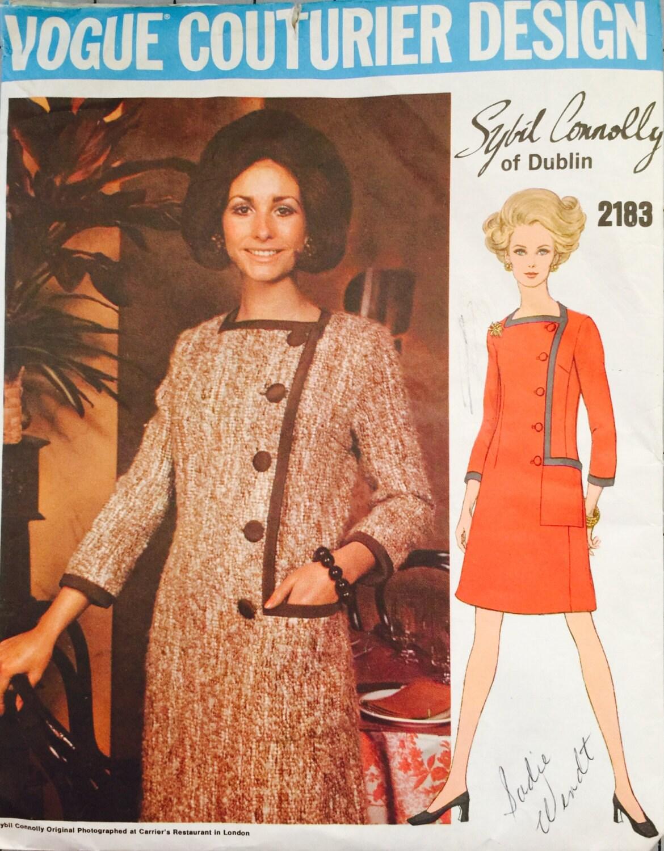"Vintage 1960/'s Sewing Pattern Vogue A-Line Square Neck Dress /& Jacket Bust 36/"""