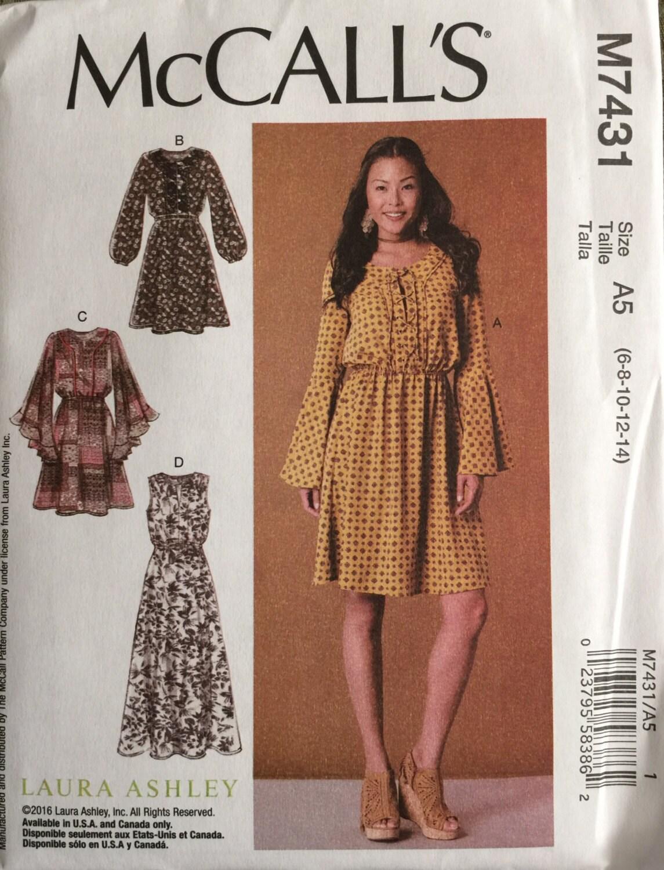 M7431 de McCall tamaño 6-8-10-12-14 patrones de vestidos de | Etsy