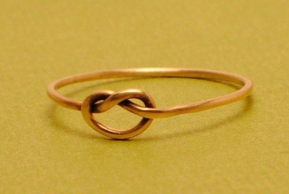 Rose Gold Ring Size 7.25 RingKnot RingFriendship RingRose Gold Filled RingTiny Rose Gold RingTeeny Weenie Tied Ring *Rose Gold Filled*