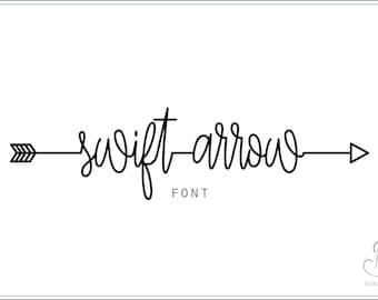 Swift Arrow Font download // OTF / TTF Open Type Fonts //Digital Download // Personal Use