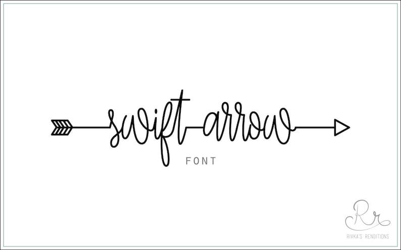 Swift Arrow Font download // OTF / TTF Open Type Fonts image 0