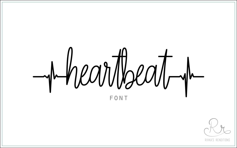 heartbeat font download otf ttf open type fonts digital etsy