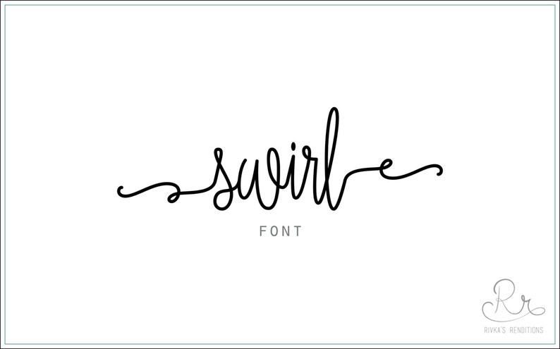 Swirl Font download // OTF / TTF Open Type Fonts //Digital Download //  Personal Use