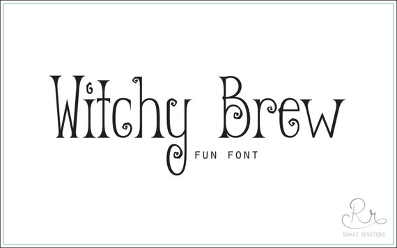 Witchy fonts