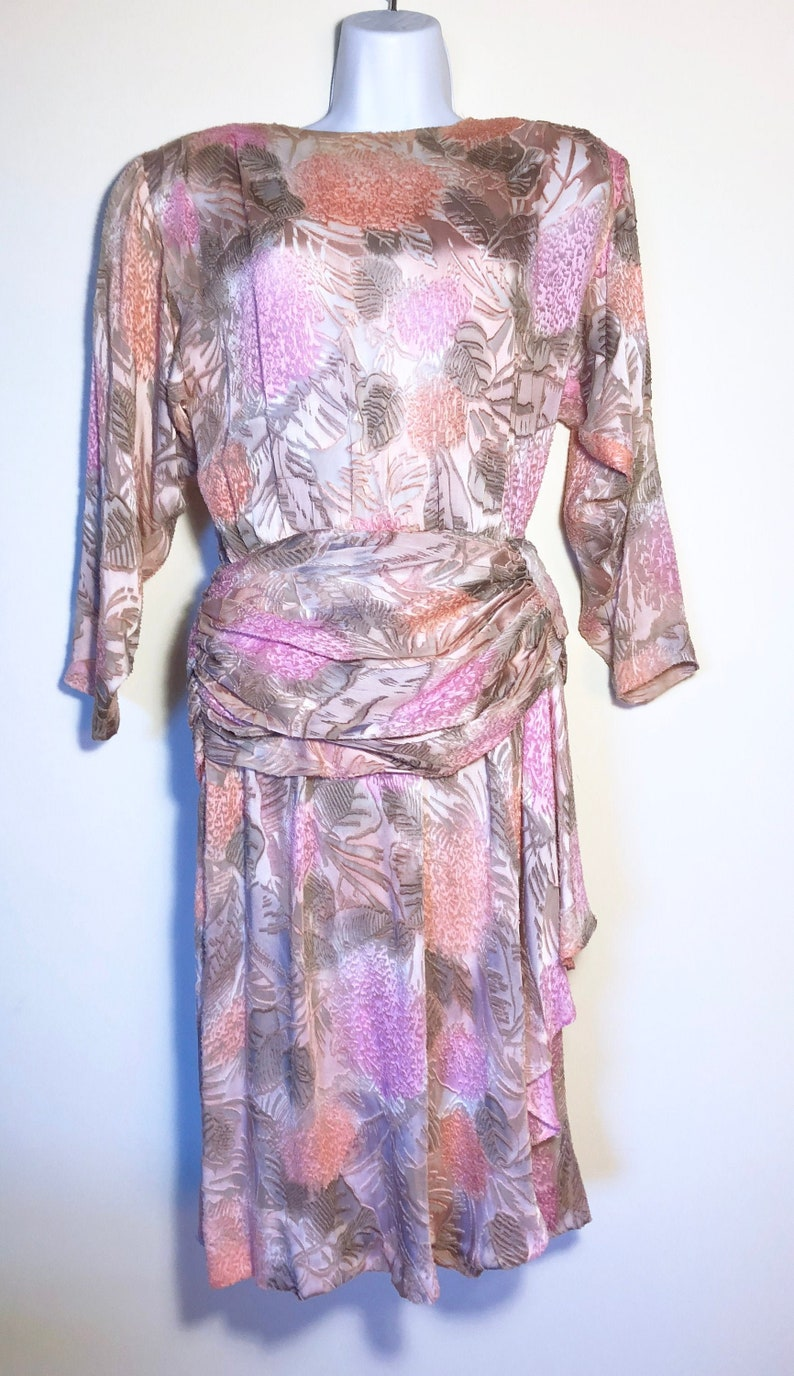 AMAZING Vintage Dress  B 40  Handmade  One of a Kind  VLV image 0