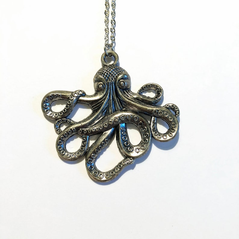 Octopus Necklace  Miss Atomic Sample Sale  FREE SHIPPING image 0