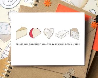 Cheesy Anniversary Card - Funny Anniversary Card - card for cheese lover - gay anniversary card - lesbian anniversary card - boyfriend card
