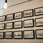 Signed Framed City Skyline Digital Prints - Ex-Display