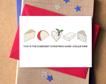 Cheesy Christmas Funny Card