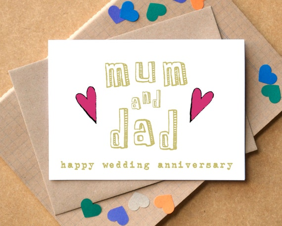 30th Wedding Anniversary Gifts For Mum And Dad: Mum And Dad Wedding Anniversary Personalised Card