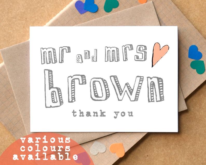 Thank You Personalised Wedding Cards image 0