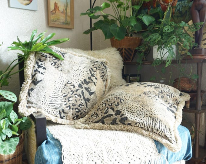 Vintage Animal Print Decorative Throw Pillow