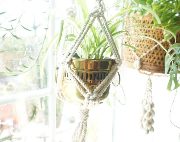 Brass Pot / Planter / Vase with Handles