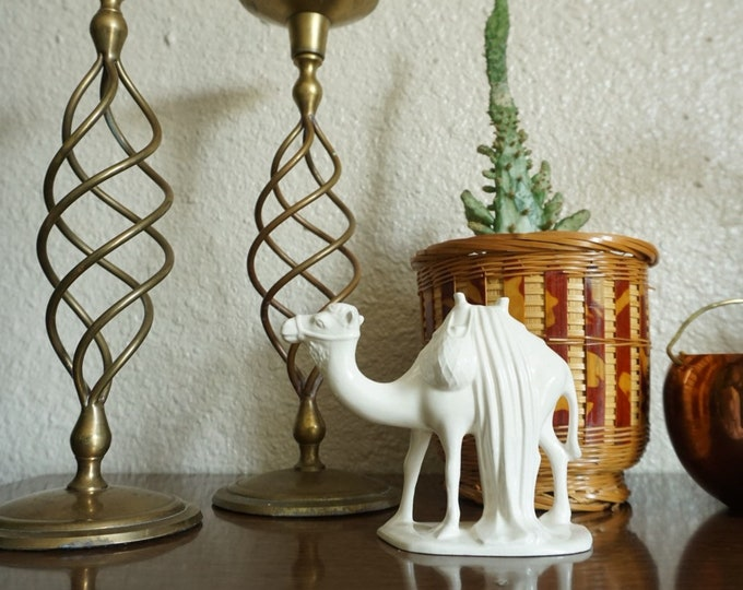 Small White Porcelain Camel Sculpture