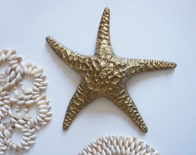 Large Vintage Solid Brass Starfish Sea Animal