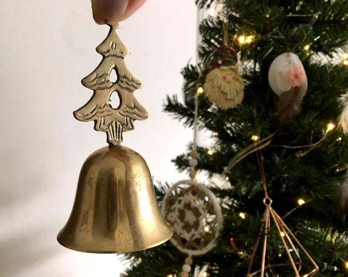 Vintage Christmas Tree Brass Bell