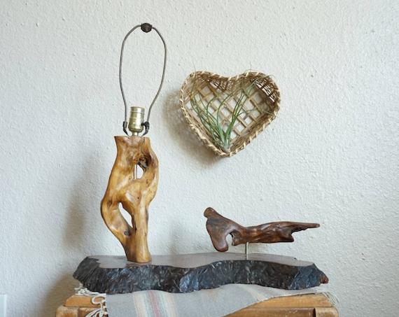 Mid Century Burlwood / Driftwood Lamp Sculpture