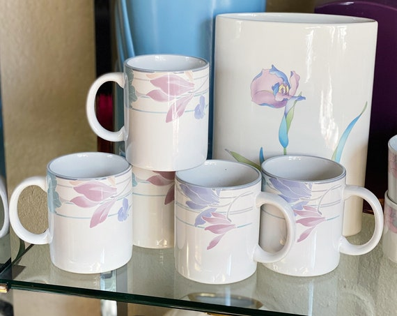Vintage Studio Nova Tender Bloom Coffee Cup Mugs - Set of 5