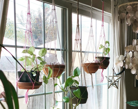 Handmade Simple & Classic Jute Plant Hanger - Multiple Sizes and Colors