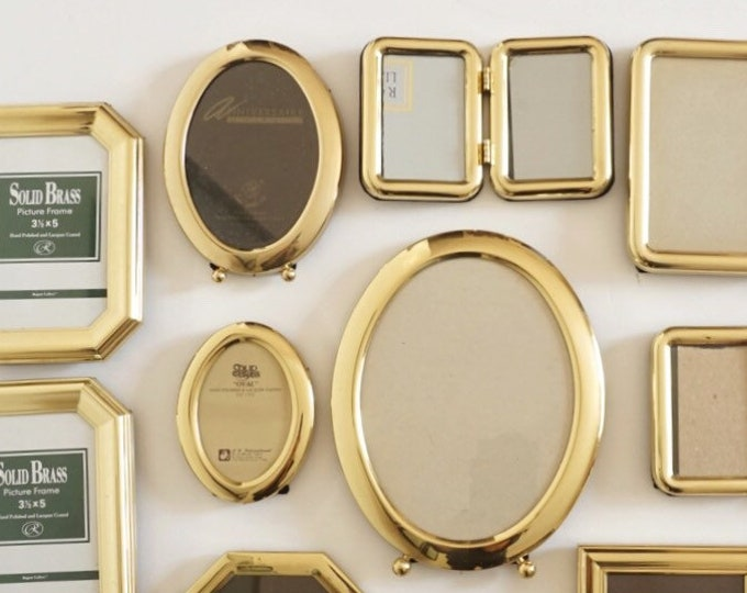Vintage Gold Lacquered Brass Picture Frame - Various Sizes