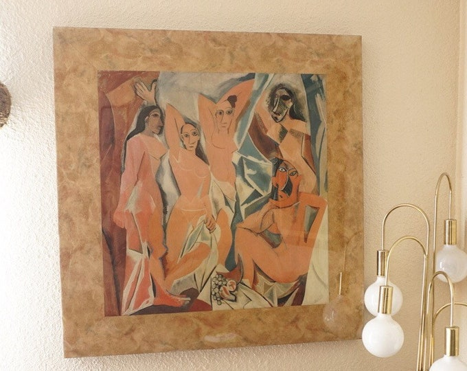 Large 'Les Demoiselles d'Avignon' by Picasso Wood Canvas Laminated Print