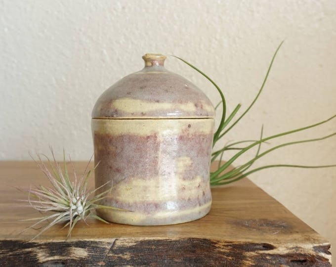 Light Purple Lavender Pink Studio Pottery Ceramic Lidded Jar / Pot / Vessel