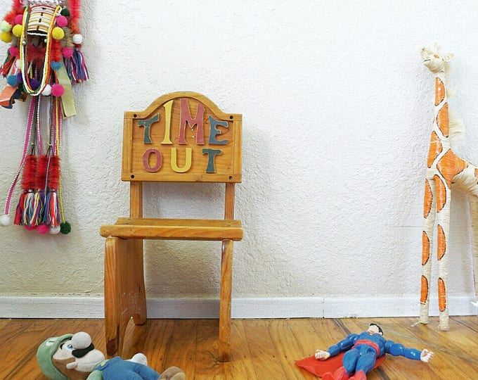 Vintage Solid Wood Time Out Children's Chair