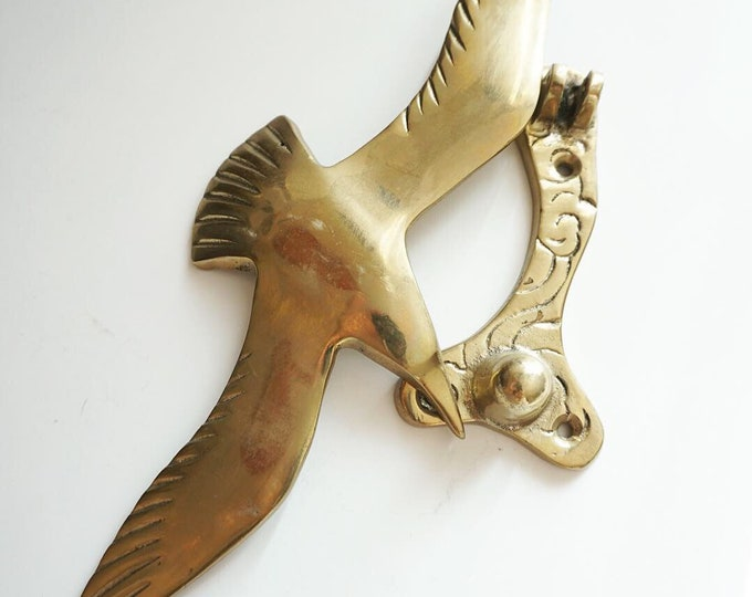 Vintage Solid Brass Bird Door Knocker