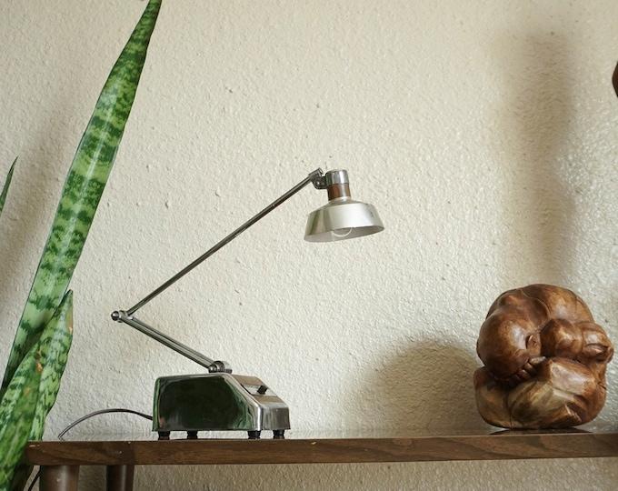 Vintage Transformer Powered Goose Neck Desk Lamp