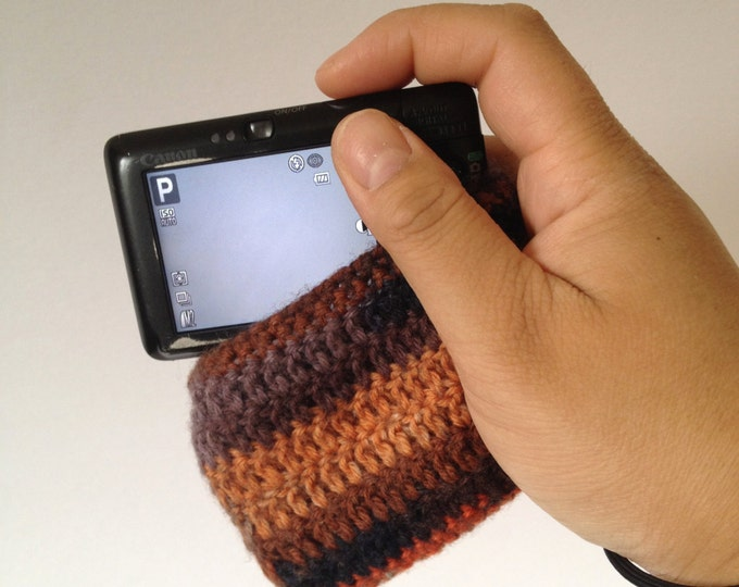 HANDMADE Knitted Camera Case Cover - Multicolored - Perfect for digital cameras and Smartphones