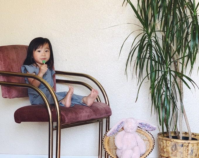 Vintage Wicker Doll Barrel Peacock Chair / Planter / Decorative Display