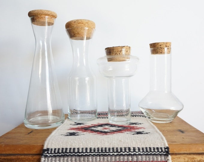 Clear Glass Apothecary Jars with Cork Lids - Multiple Selections