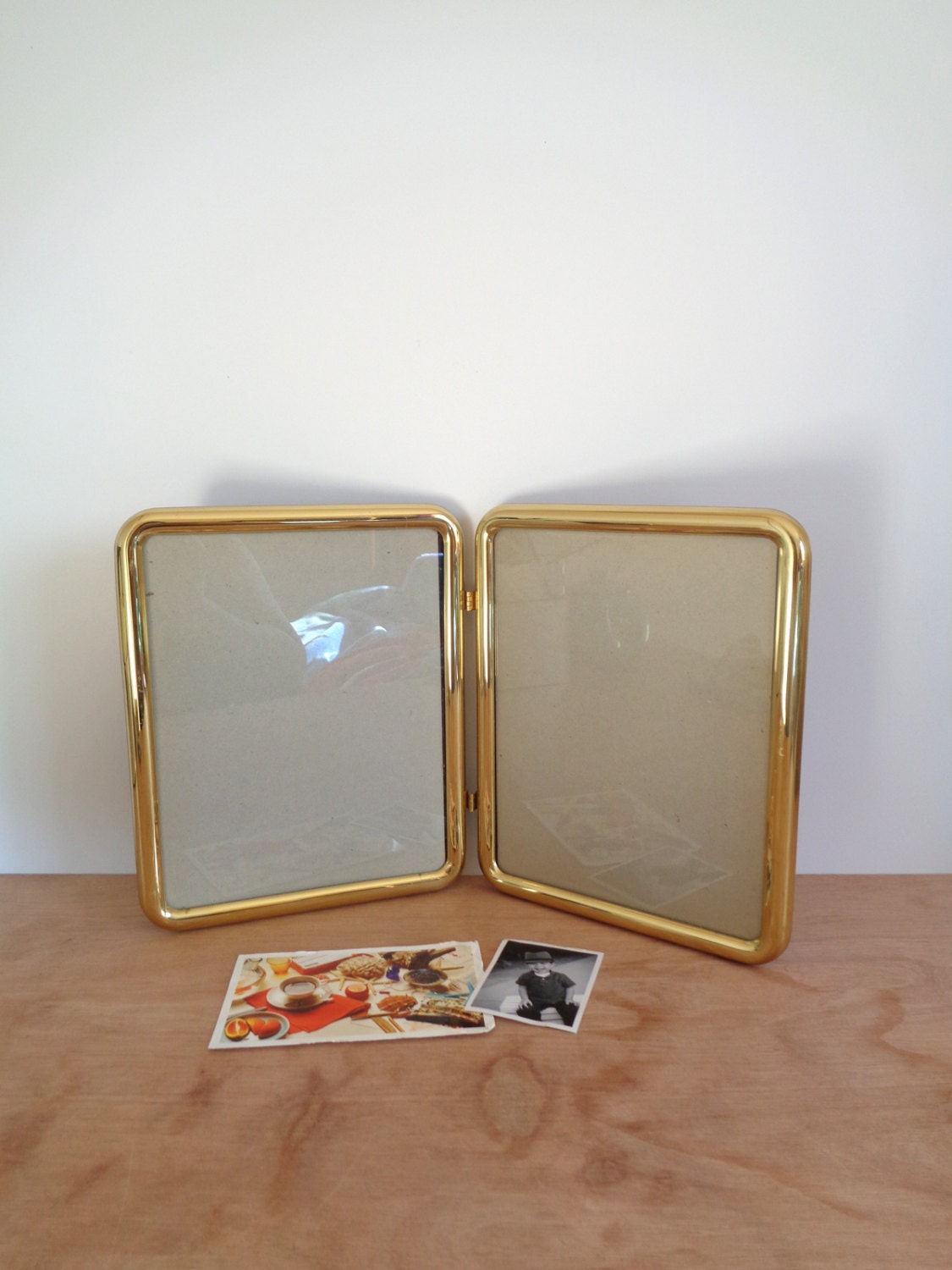 RESERVED---Large Brass Double Picture Frames - 8 x 10 - Vintage ...