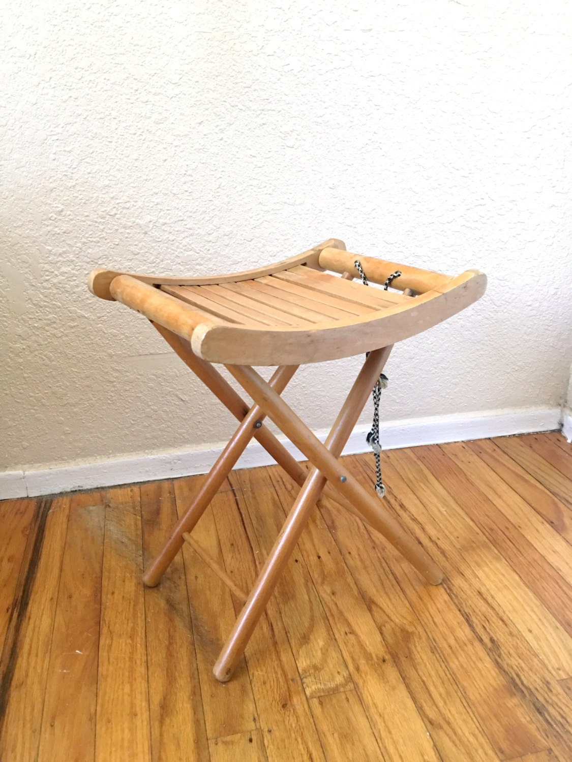 Astonishing Vintage Nevco Wooden Folding Stool Chair Plant Stand Onthecornerstone Fun Painted Chair Ideas Images Onthecornerstoneorg