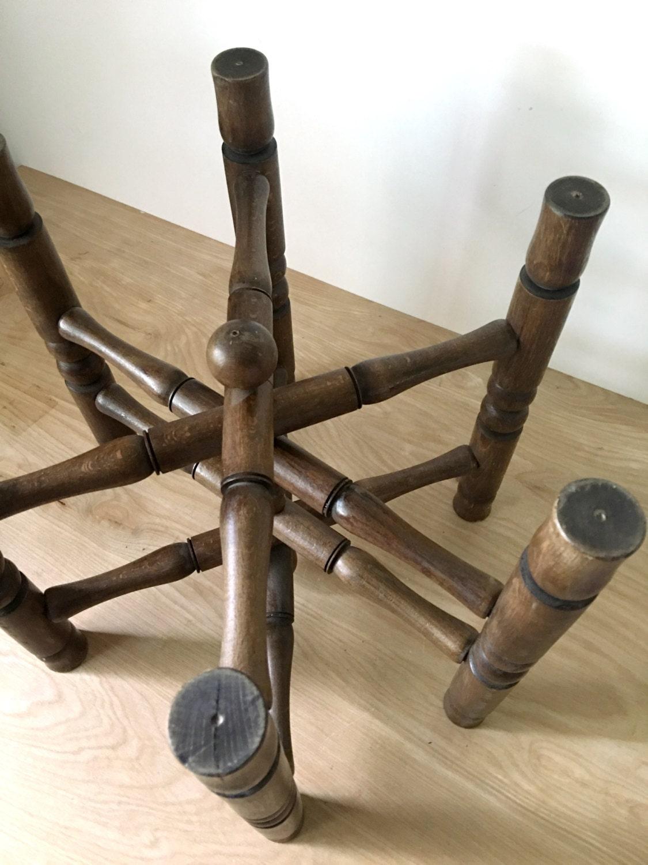 Vintage Solid Wood Folding Plant Stand Pedestal Base