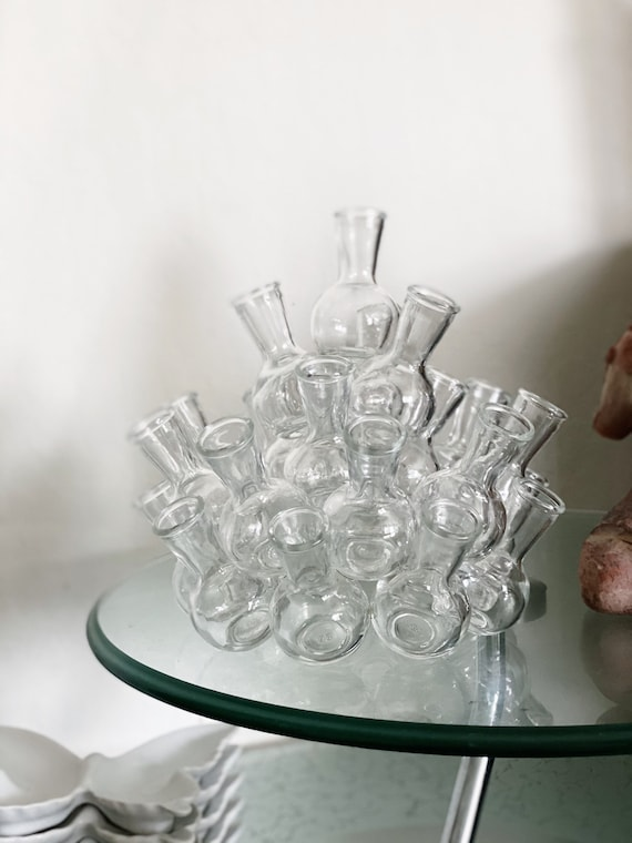 Vintage Stacking Clear Glass Jar / Bud Vase / Propagation Station - Various Sizes