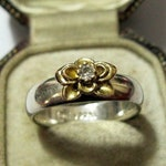 Vintage Two-tone Daisy Flower Ring