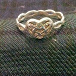 Vintage Sterling Silver 'Kit Heath' Celtic Heart Ring