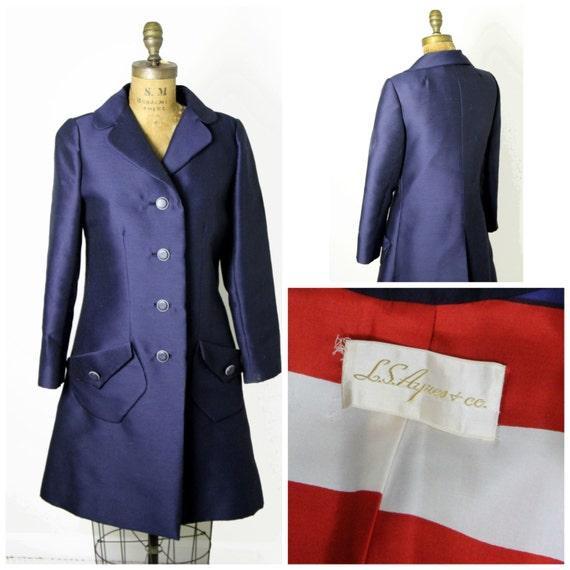 Mod 1960s Raw Silk Coat