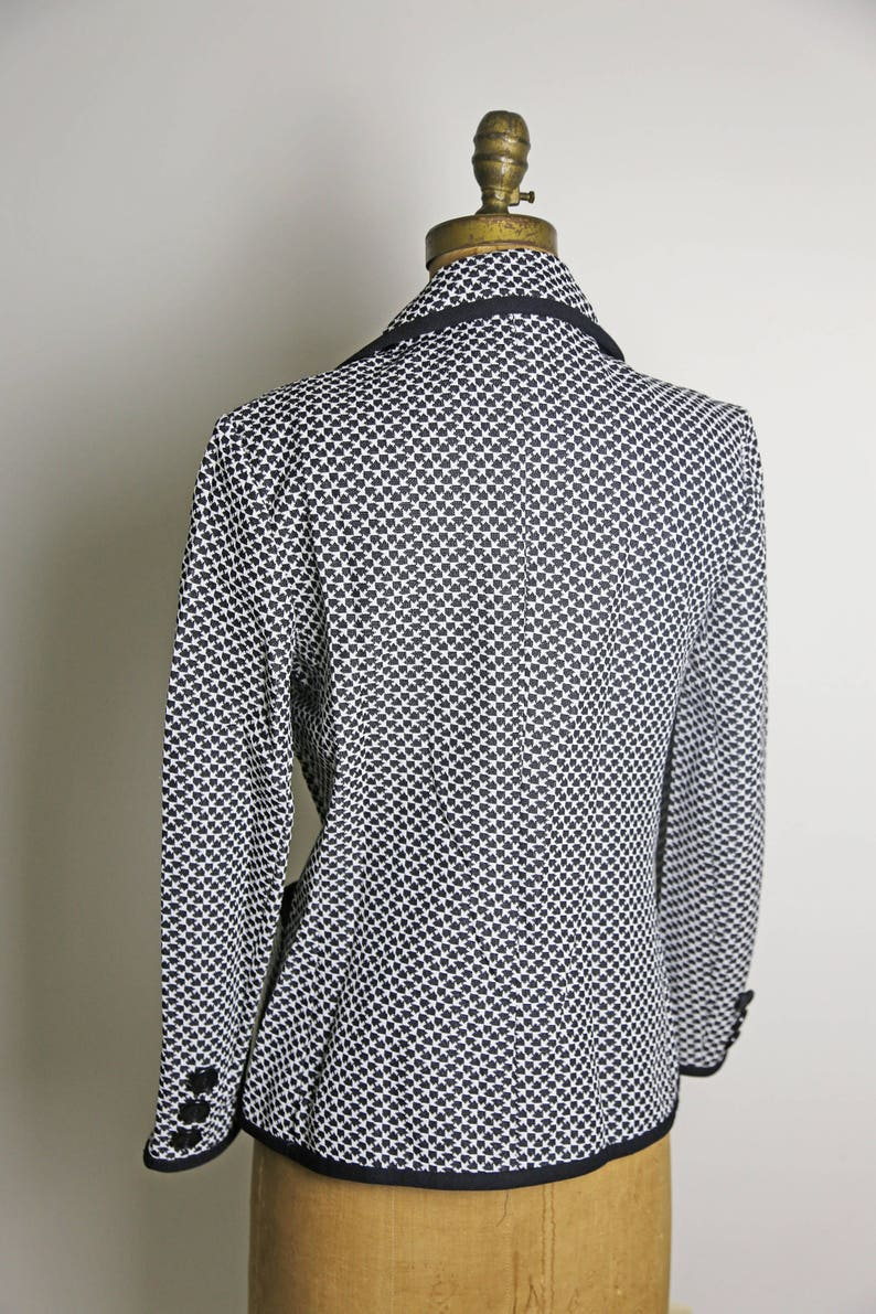 1960s Butte Knit Button Up Blazer