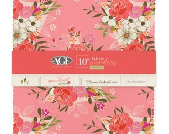 """Open Heart 10"""" Squares - Layer Cake - AGF Studio for Art Gallery Fabrics - 42 10"""" Squares - Quilting Precuts - 100% Cotton - Floral"""