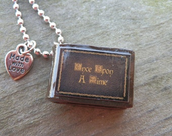 Once Upon A Time: Henry's Book  Polymer Clay Pendant Necklace