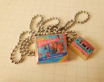 Girl Talk Date Line Retro Necklace With Miniature Cassette Tape