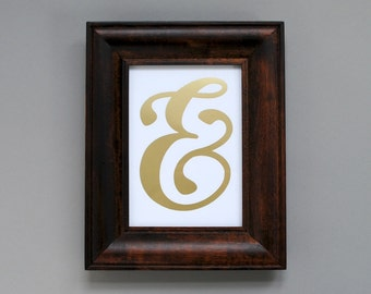 CLEARANCE // Foil Print, Ampersand (5x7)