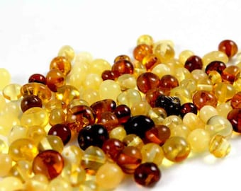 Baltic Amber Beads 20 gr, Supply Rounded Multicolor